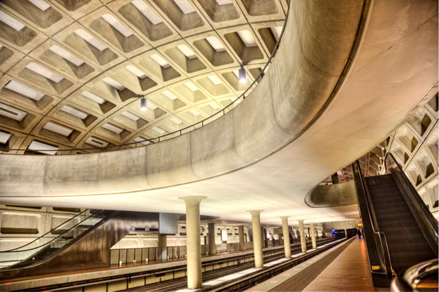 crystal city, metro, abpan, angela b. pan, hdr, metro, washington dc, public transit. interior, photography, photo