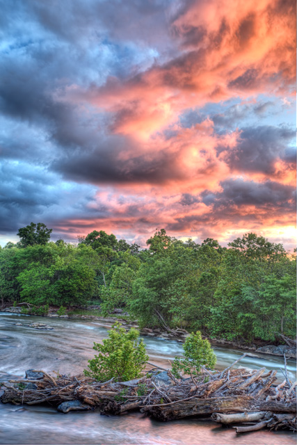 great falls, sunset, landscape, maryland, md, angela b. pan, abpan, hdr, photography, photo, red, blue, park, potomac,