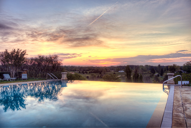 infinity pool, sunrise, landscape, angela b. pan, abpan, hdr, photography, photo, hdr, charlotesville, virginia, va, travel, screne,
