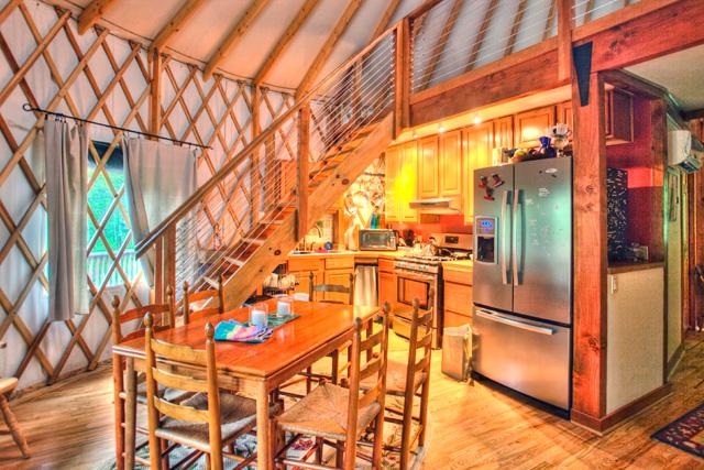 yurt, blue ridge mountains, angela b. pan, abpan, inside, kitchen, hdr, photography, photo, travel, virginia, yurt