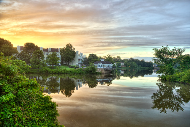 neighborhood, falls church, fairfax, fairview lake, angela b. pan, abpan, landscape, hdr, sunrise, va, photography, photo