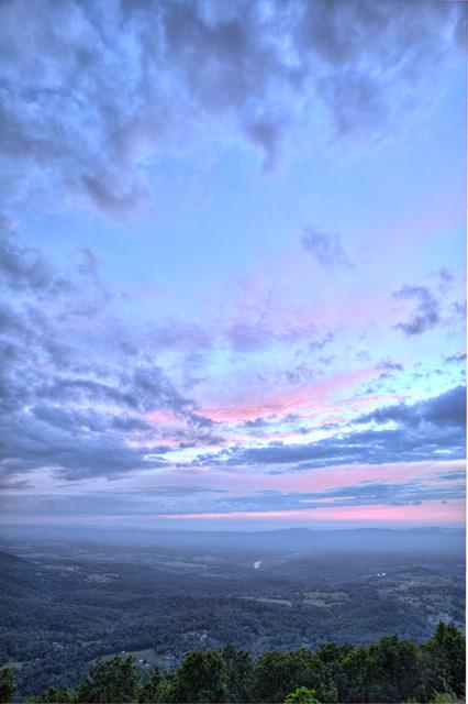 shenandoah mountains, angela b. pan, abpan, hdr, photography, photo, landscape, sunset, virginia,