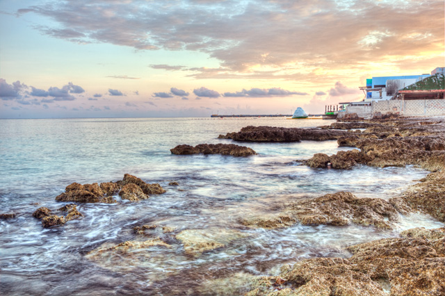 cozumel, mexico, shore, sunrise, landscape, hdr, photography, photo, angela b. pan, abpan, travel, beach, peaceful, color