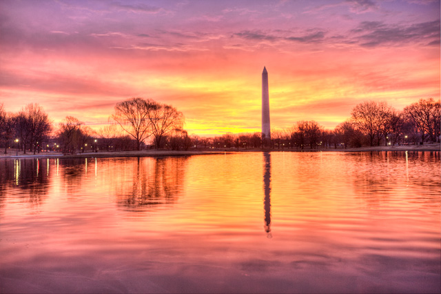 founders park, constitution gardens, landscape, sunrise, angela b. pan, abpan, hdr, photography, photo, travel, washington dc, monument