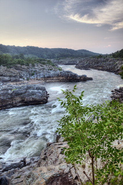 great falls, downstream, mather gorge, hdr, photography, photo, angela b. pan, abpan, virginia, sunrise,
