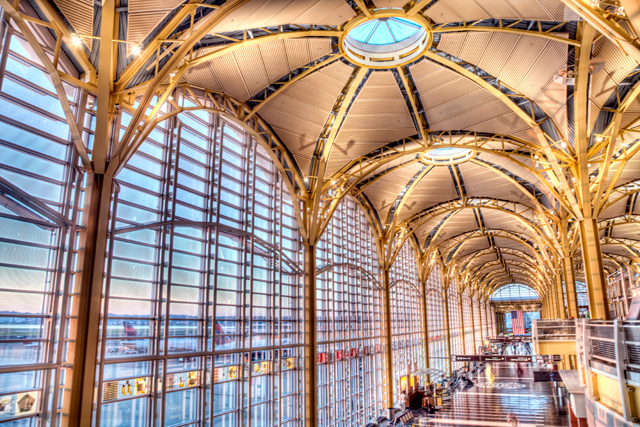 reagan, national, airport, dca, dc, washington, angela b. pan, abpan, photography, photo, interior, architecture, travel, hdr,