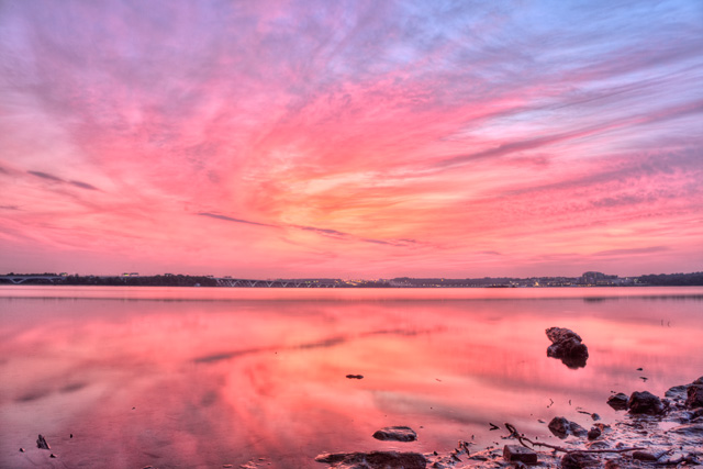 Sunrise in Alexandria, VA This Morning
