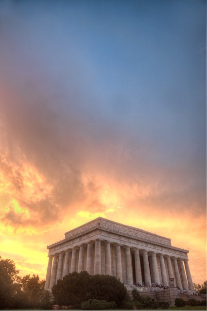 lincoln memorial, washington dc, sunset, hdr, landscape, angela b. pan, abpan, photography, photo,