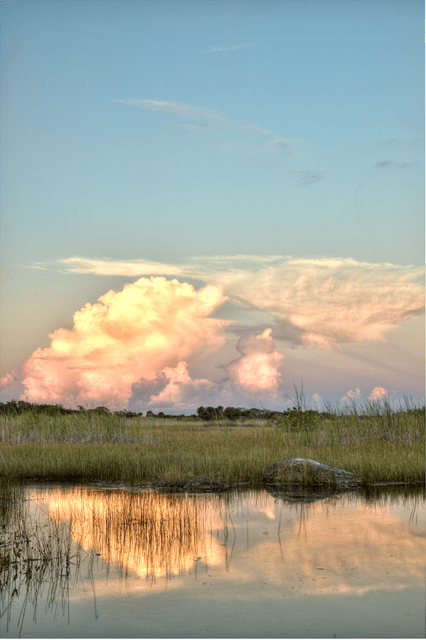 everglades, florida, fl, cloud, reflection, landscape, hdr, photography, photo, angela b. pan, abpan