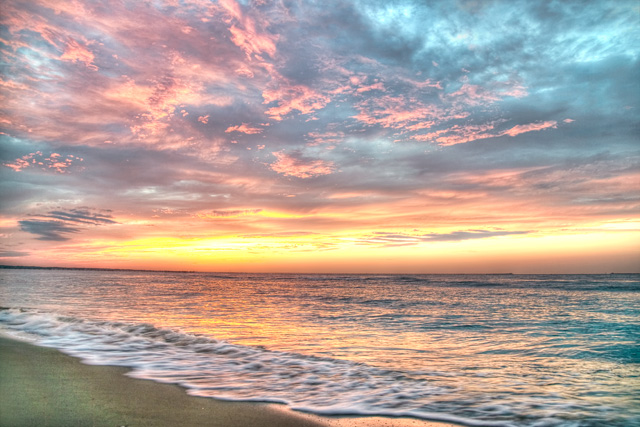 first landing state park, hdr, landscape, angela b. pan, abpan, beach, bay, sunset, photo, photography, va, virginia