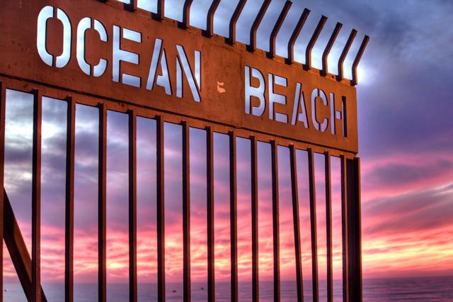 ocean beach, sunset, gate, california, ca, hdr, travel, photo, photography, angela b. pan, abpan