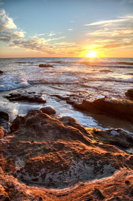 san diego, sunset, california, cali, ca, angela b. pan, abpan, hdr, photography, photo, rock,