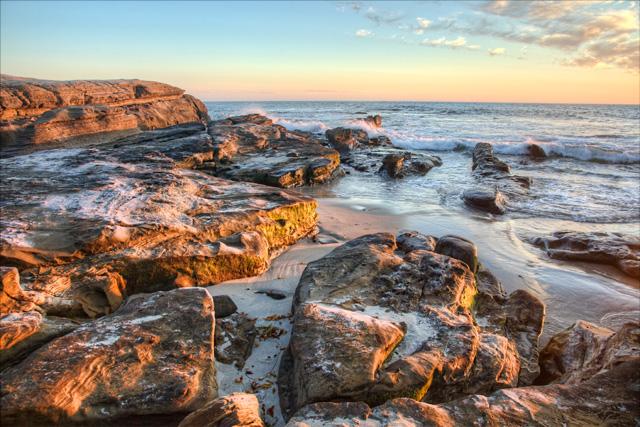 sunset, california, san diego, rocks, travel, hdr, photo, photography, angela b. pan, abpan