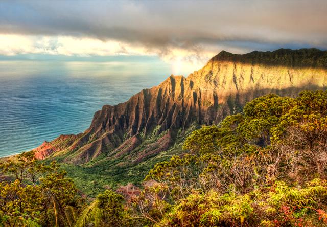 Kalalau, lookout, rainbow, angela b. pan, abpan, hdr, photo, photography, landscape, hawaii, kauai, travel