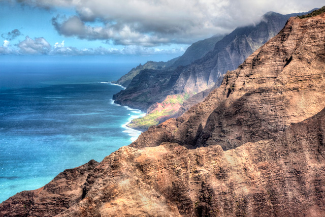 napali, coast, kauai, hawaii, angela b. pan, abpan, travel, hike, cliffs, hanakaoi'ai, hdr, photo, photography