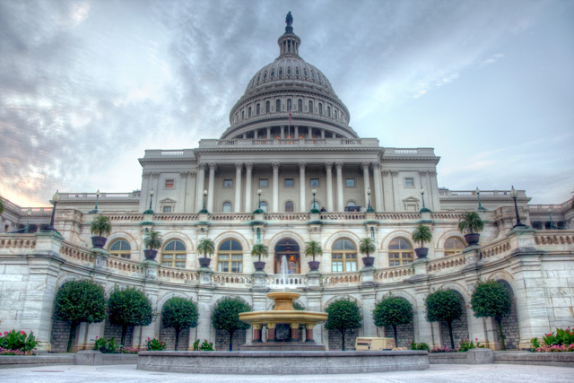 US Capitol building at sunrise