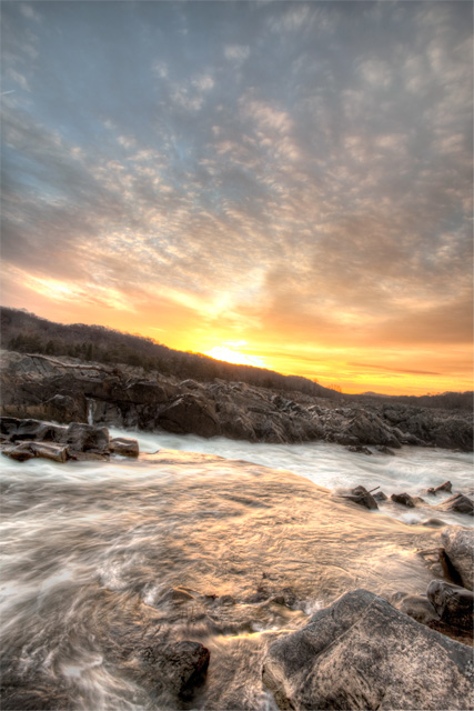 Great Falls Virginia at Sunrise