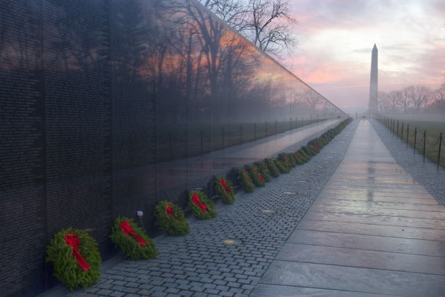 Vietnam Memorial Wreats