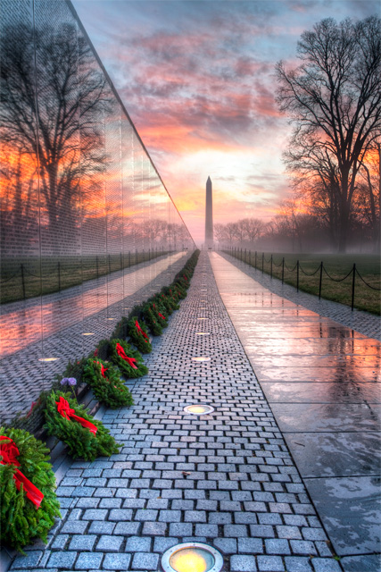 Vietnam Veterans Memorial at Sunrise