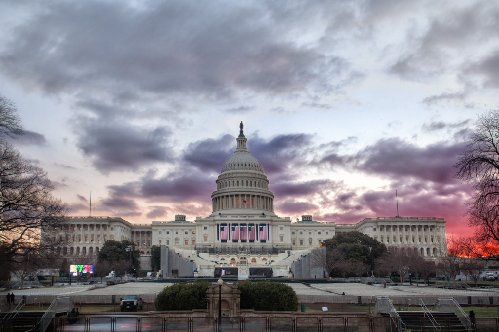 The US Captiol on the weekend of the 2013 Inauguration