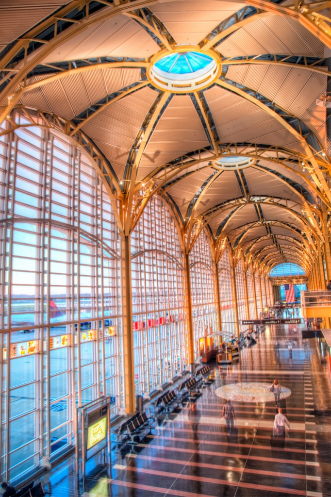 An HDR picture of the inside of Reagan National Airport in Arlington, VA