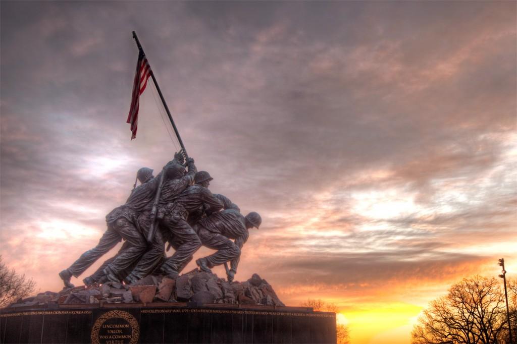 US Marine Corps War Memorial in Arlington, Virginia