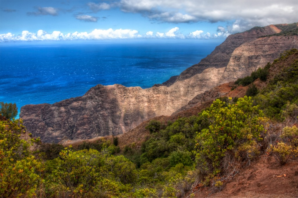 Along the Napali Coast in Kauai, Hawaii