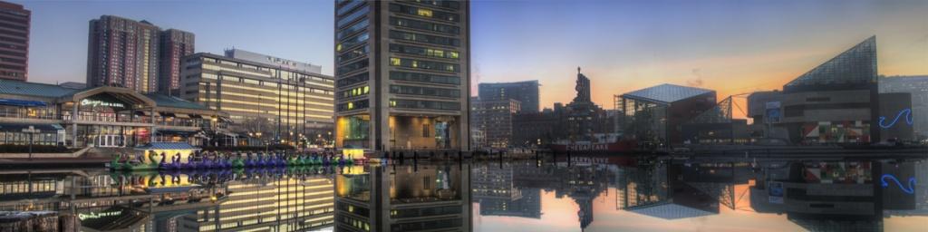 Baltimore, inner harbor, sunrise