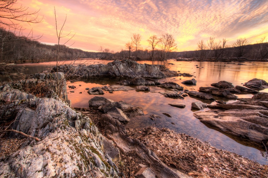 great falls, virginia, landscapes, sunrise