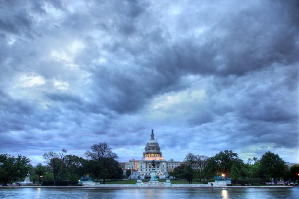 blue sky, capitol, washington dc