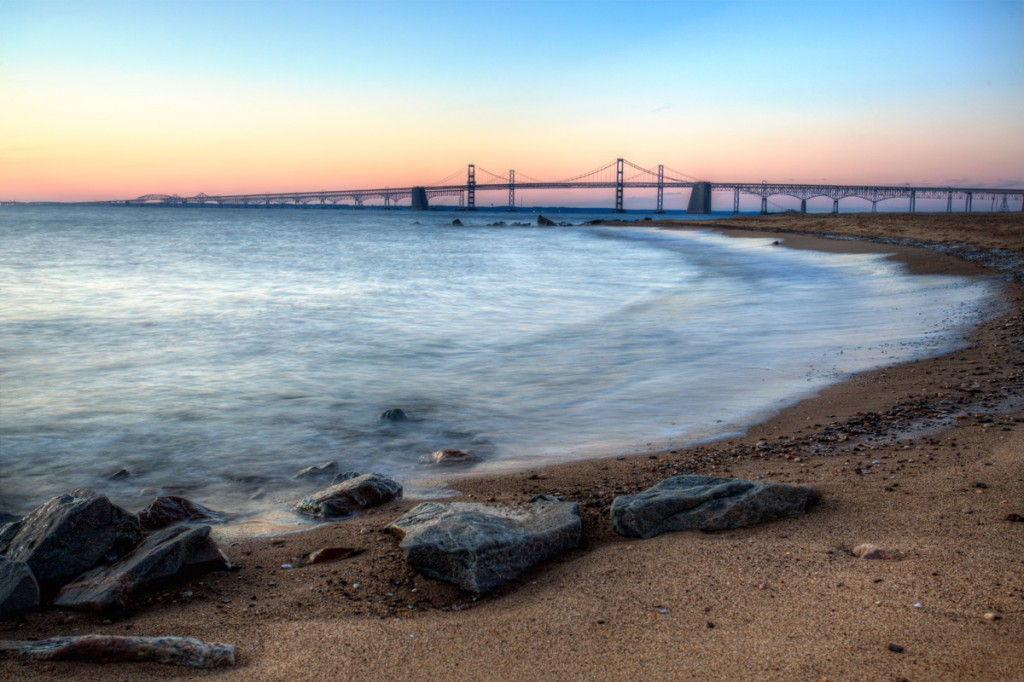 sandy point state park, bay bridge, maryland