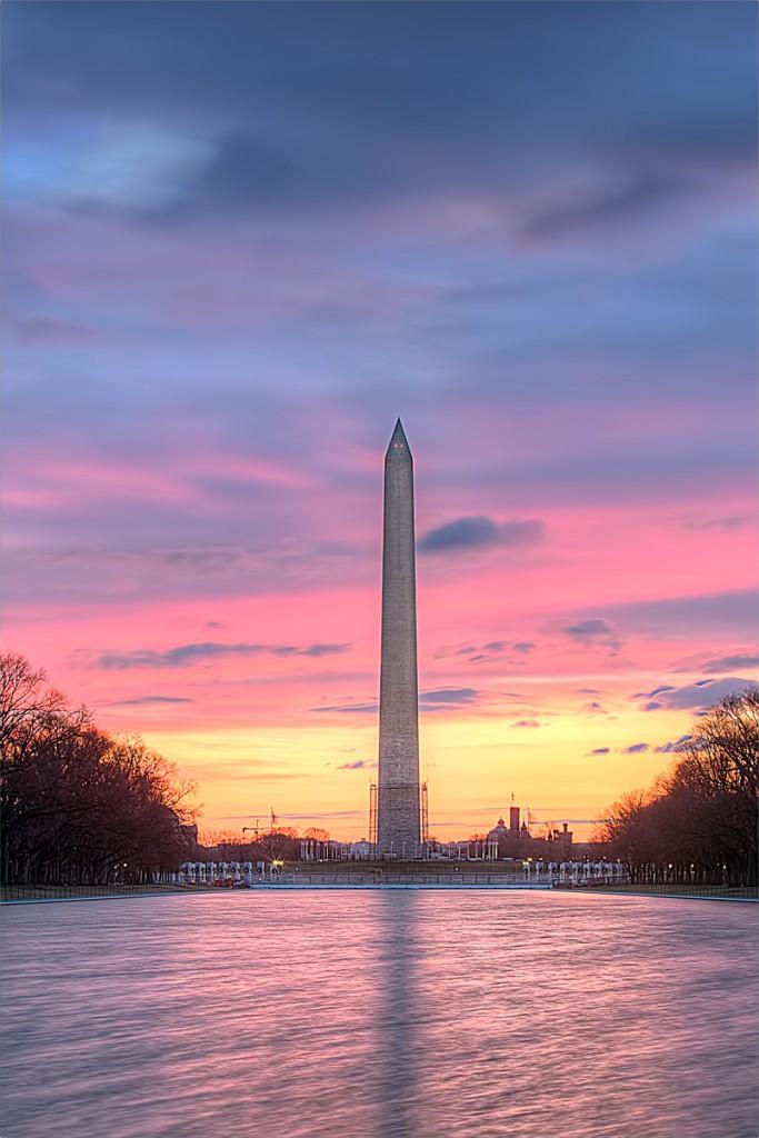 washington monument, dc, sunrise