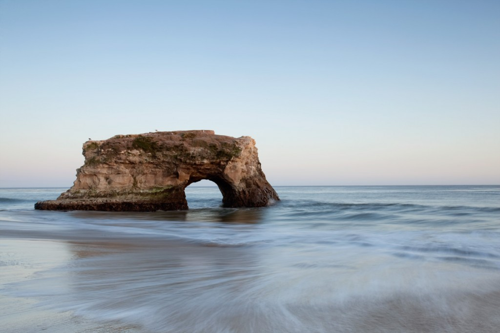natural bridges, state park, california, sunset