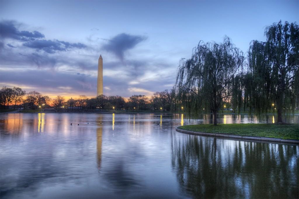 constitution gardens, washington dc, sunrise