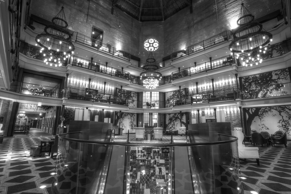 liberty hotel, boston, interior, architecture, black and white