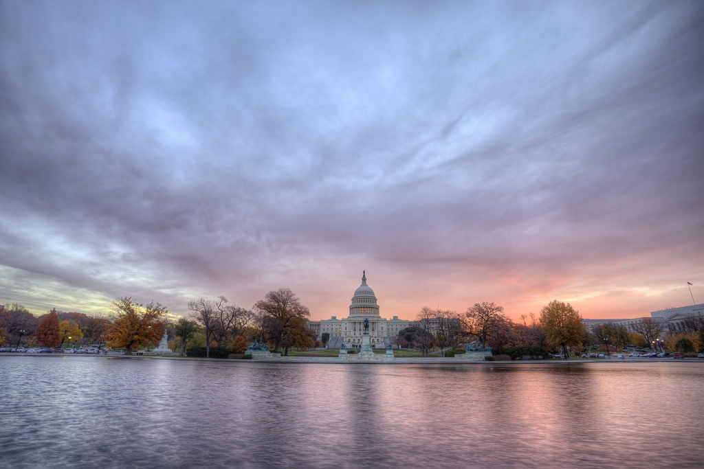 capitol, sunrise, clouds, light, washington dc, travel