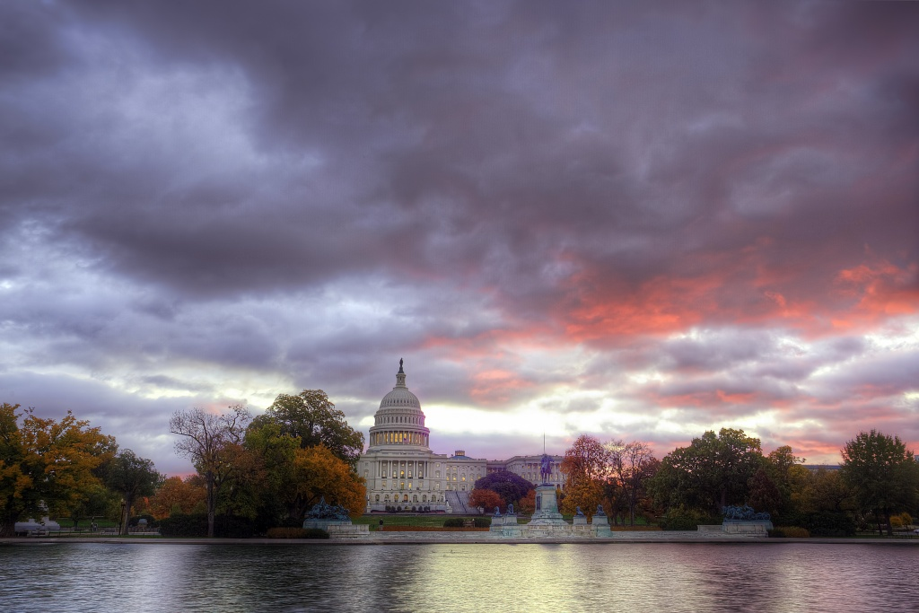 capitol, capital, sunrise, reflection, washington dc, travel, united states, usa, america, travel