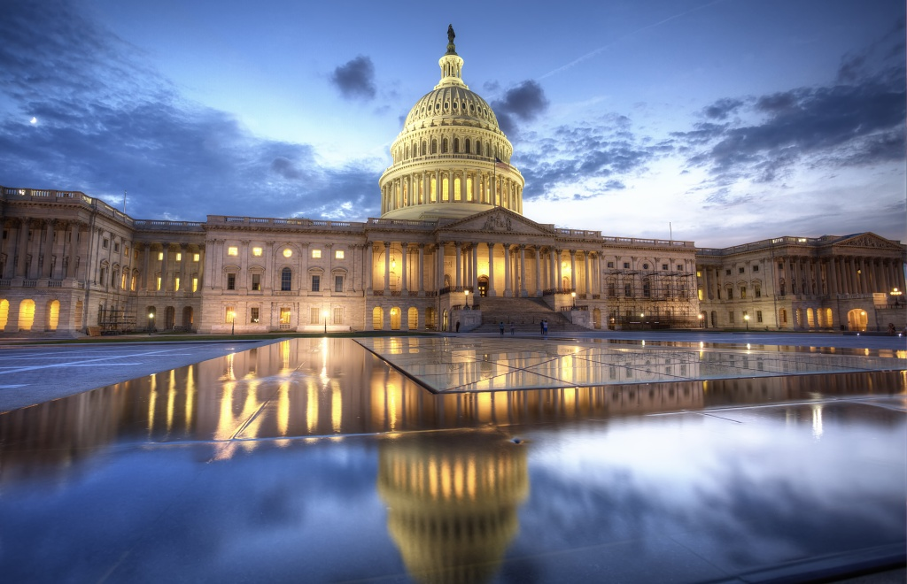 capitol, reflection, sunset, east capitol street, east side, washington dc, capital,