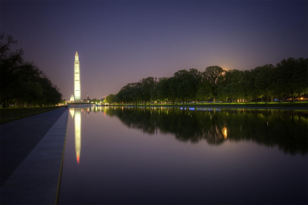 pink moon, washington monument, reflecting pool wwi memorial, full moon, rising