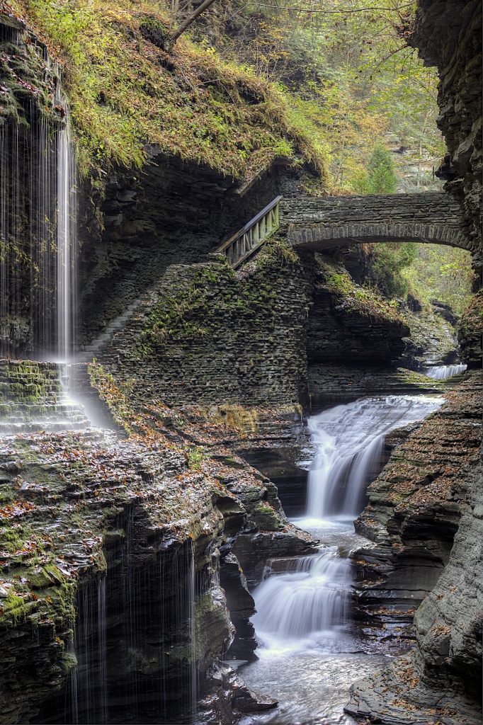 new york, upstate, watkins glen, state park, waterfalls, united states, usa