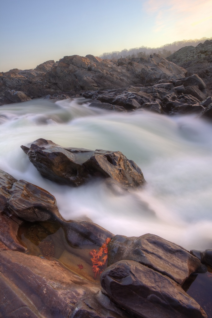 great falls, state park, virginia, va, water, rocks, sunrise, travel, landscape, waterscape