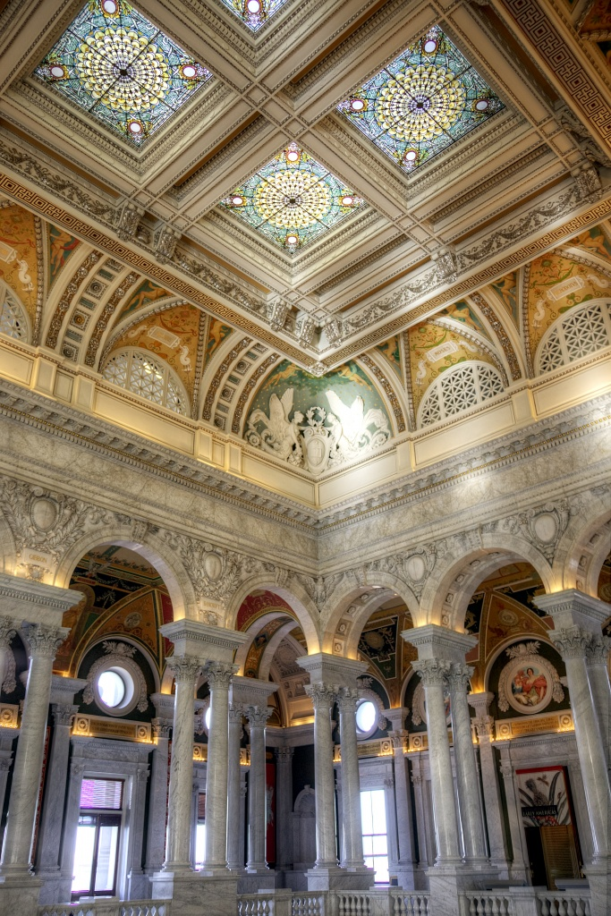 library of congress, interior, inside, architecture, washington dc, gold, decor, angela b pan, abpan, travel, government