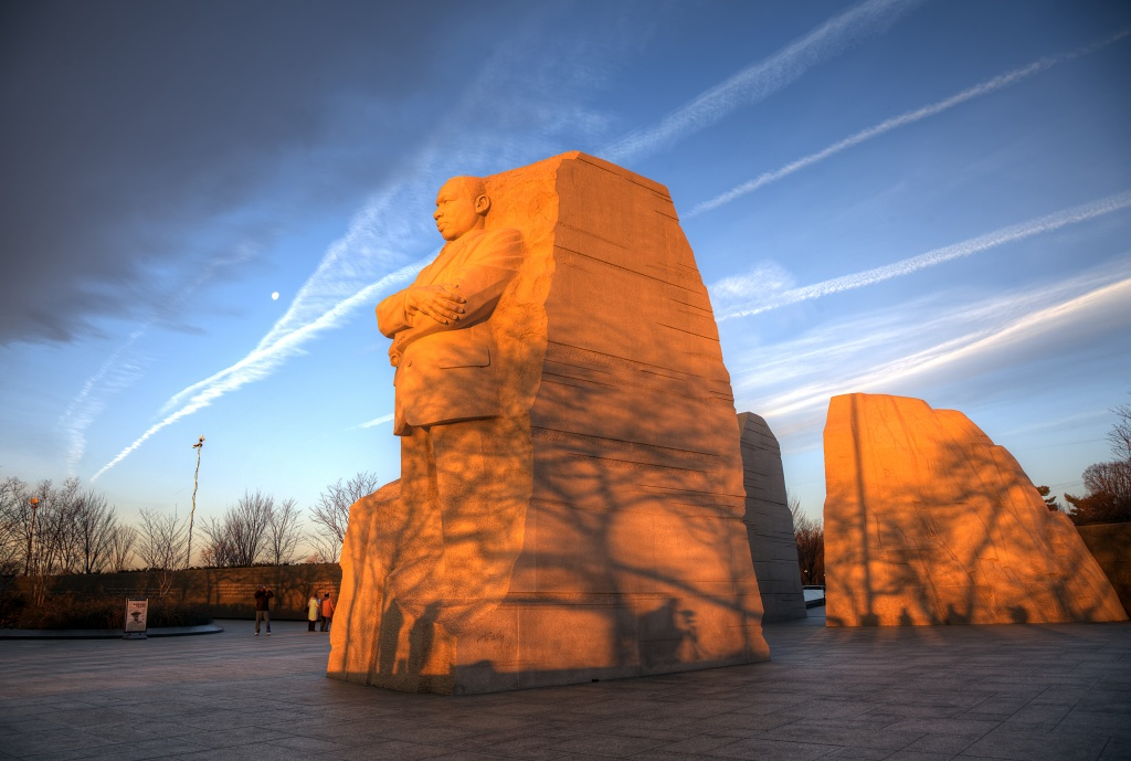 martin luther king jr, memorial, washington dc, travel, tidal basin, sunrise, morning, travel, mlk,