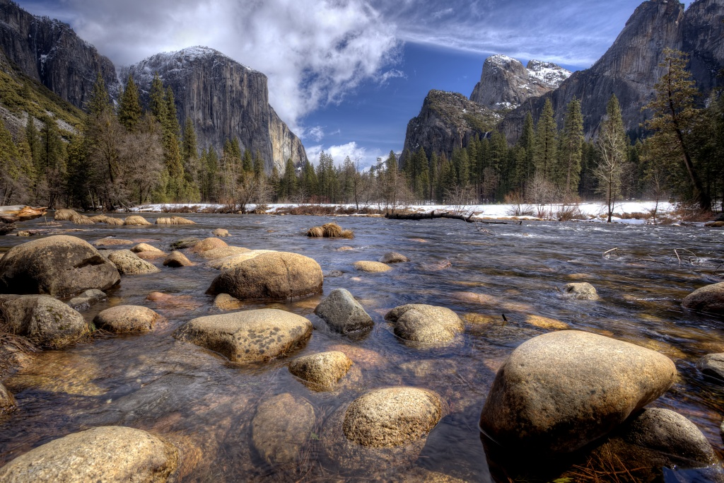valley view, yosemite national park, california, travel, rocks, hdr, ca,