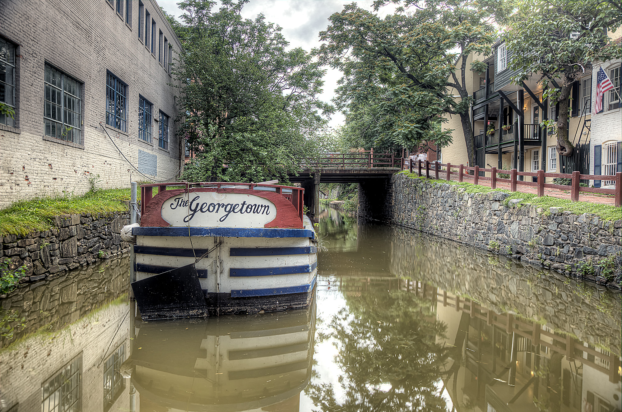 the georgetown, canal, georgetown, washington dc, shopping, reflection, boat, travel,