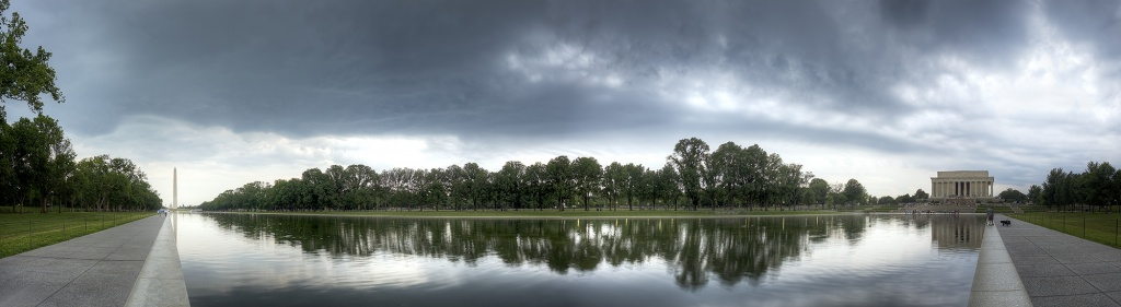 reflecting pool, storm, weather, rain, clouds, washington monument, lincoln, memorial, reflection, reflecting pool, sunset, tourists,