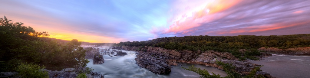 great falls, park, state park, virginia, va, sunset, pano, storm, after, rain, clouds, weather