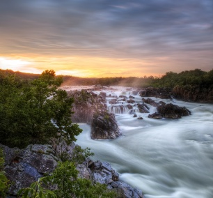 great falls, storm, rain, thunder, lightening, virgina, va, park, state park, water, waterfall, hdr, landscape