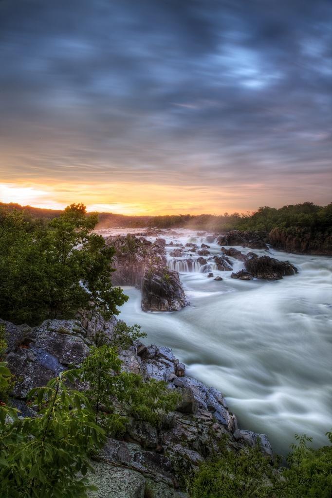 great falls, storm, rain, thunder, lightening, virgina, va, park, state park, water, waterfall, hdr, landscape