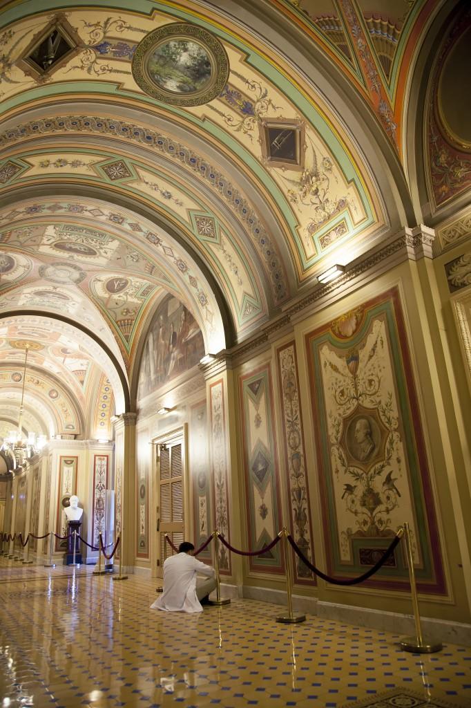 Brumidi Corridors, restoration, capitol, washington dc, us capitol, interior, architecture, washington dc
